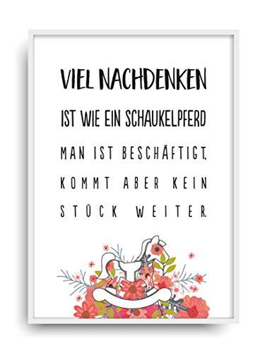 ALEMARG Kunstdruck VIEL NACHDENKEN Fine Art Poster Print Plakat Moderne Vintage Deko Bild ungerahmt DIN A4 Geschenk