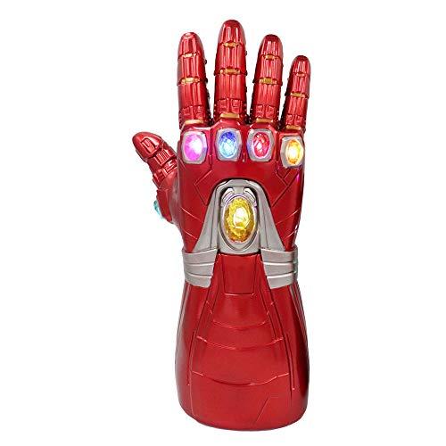 Guanti Thanos in PVC con luce a LED a destra, per cosplay, Halloween, per bambini