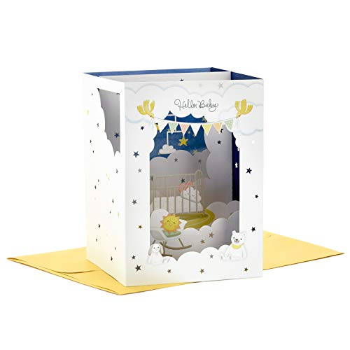 Hallmark Paper Wonder Pop Up Baby Shower Card (Cloud Nursery), Model Number: 899RZW1049