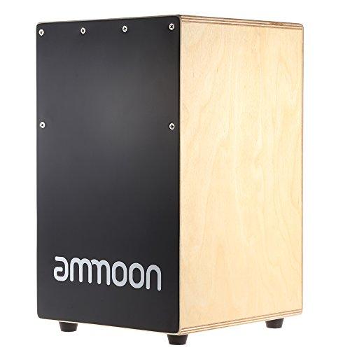 Ammoon Cajon für Kinder, Kindercajon, Junior Box, Trommel, Hocker, Kurzlehrgang