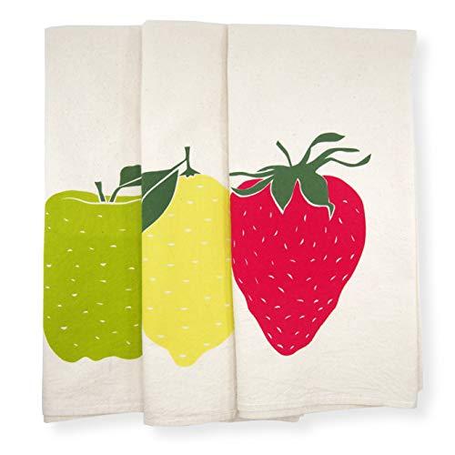 Set Of 3 Giant Fruit Bundle Pack Kitchen Decor Tea Towels Strawberry Apple And Lemon From Amazon Accuweather Shop