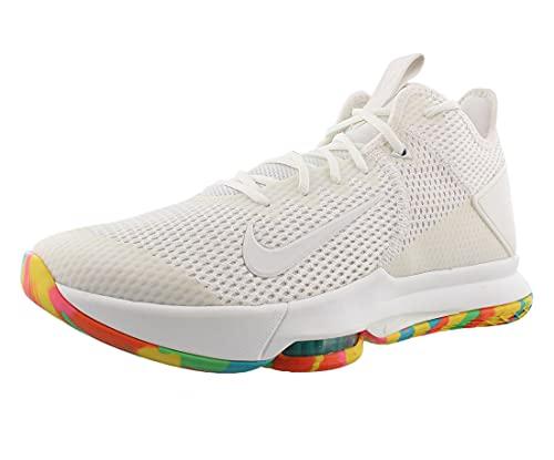 Nike Lebron Witness Iv Mens Basketball Shoes Bv7427-102 Size 12 White/Multi-Color