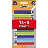 BIC Lot de 20 briquets maxi silex - 15+5 blister