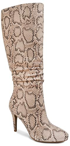 Sugar Women's Darling 2 Tall Shaft Riding Boot with Buckles and Woven Wraparounds 6.5 Stone Fabric