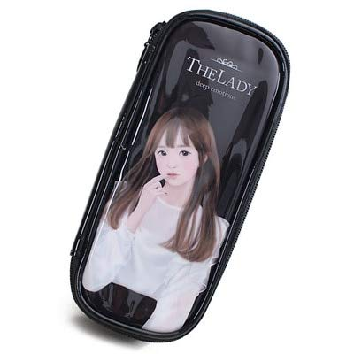 Makeup Bag Cartoon Pencil Case Beautician Waterproof PU Makeup Bag Pencil Case Travel Organizer Case Cosmetics Toiletry Bag 520*5*9cm