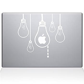 The Decal Guru Idea Light Bulbs MacBook Decal Vinyl Sticker - 13  MacBook Pro  2015 & Older  - White  0190-MAC-13P-W