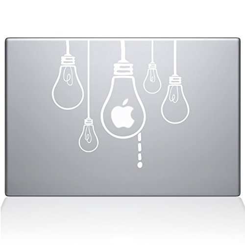 Die Aufkleber Guru Idee Leuchtmittel MacBook Aufkleber Vinyl Aufkleber–38,1cm MacBook Pro (2016& neuere)–Weiß (0190-mac-15X -w)