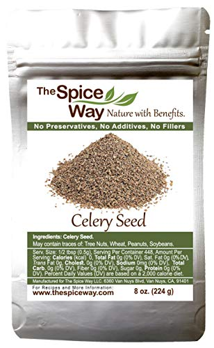 The Spice Way Celery Seed - premium whole seeds 8 oz
