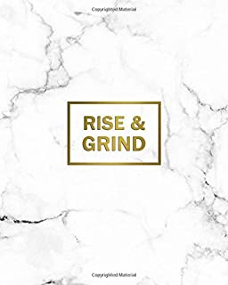 Rise & Grind: 2020-2024 Marble & Gold Five Year Monthly Planner & Organizer   Motivational 5 Year Agenda With 60 Months Spread View Calendar with To-Do's, Inspirational Quotes, Vision Boards & Notes