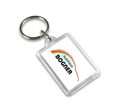 Schlüsselanhänger ATSA, 10 Stück transparent für Foto oder zum selbstbeschriften Bilderrahmen mit Schlüsselring beschriftbar 31x42mm mit perforierten Karton Druckbögen für Name, Auto Fuhrpark Hotel o.