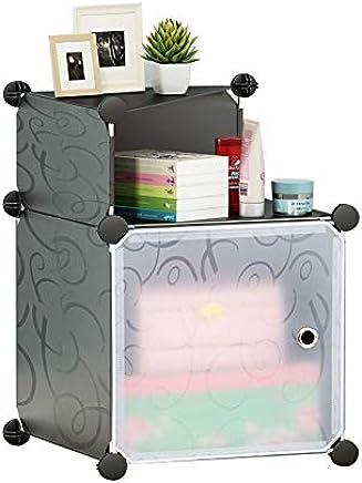 Cubic Cabinet, Black - H 54 cm x W 37 cm x D 37 cm