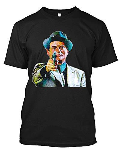 Joe Pesci Mafia Gangster Movie Goodfellas Painting T Shirt Gift Tee for Men Women Black