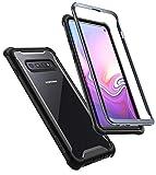 i-Blason Cover Samsung Galaxy S10, Custodia Rigida con Bumper in TPU [Serie Ares] Clear Rugged Case per Samsung Galaxy S10, Senza Protezione per Schermo, Nero