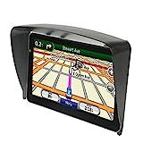 Parasol GPS, Visera Solar de termoplástico (ABS) para Dispositivos de navegación de 7 Pulgadas, Protector Solar GPS Negro de fácil Montaje, Protección Total contra la radiación Solar