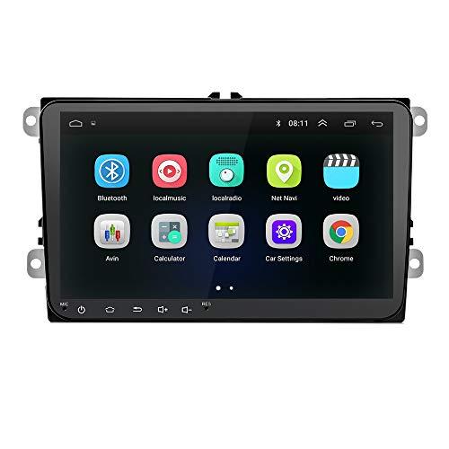SODIAL 9 Pulgadas Android 8.0 Doble 2Din Radio De Coche GPS Radio Auto 2 DIN USB para/Passat/Golf/Skoda/Seat WiFi 2 DIN