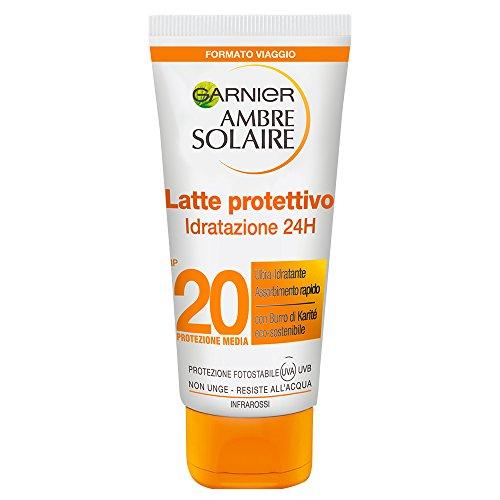 Garnier Ambre Solaire Crema Solare, Latte Protettivo Ultra-Pratico, Protezione Media IP20,...
