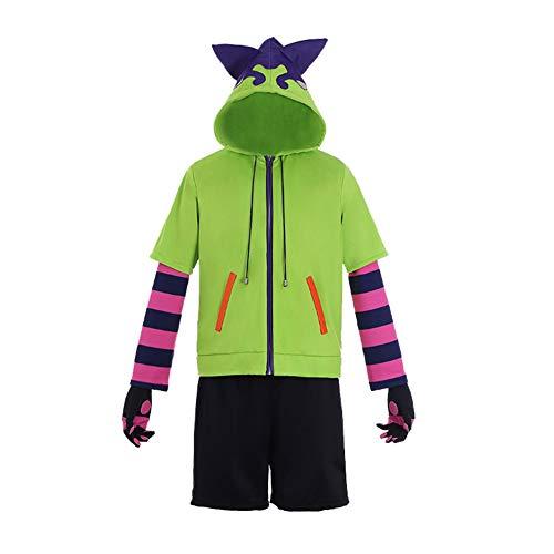 Lemany Anime SK8 The I-nfinity Miya Costume Cosplay Miya Cosplay Outfit Miya Felpa con Cappuccio e Pantaloni Set Completo Abiti Halloween Natale Vestito Cosplay per Donna Uomo