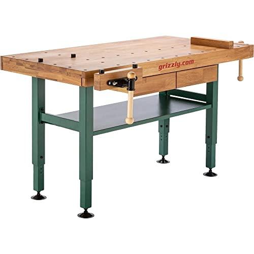 Grizzly Industrial T10157- Heavy-Duty Oak Workbench