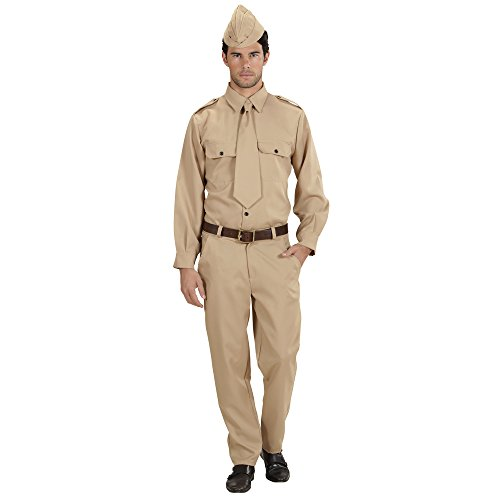 Widmann 76613 - Kostüm Soldat WW2, Hemd, Hose, Krawatte, Hut, Uniform, Karneval