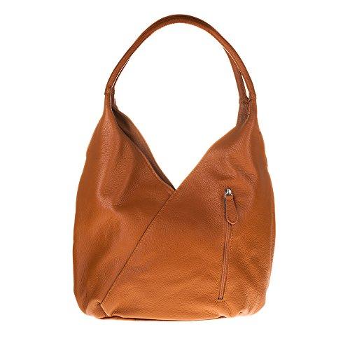 Firenze Artegiani Bolso Shopping Bag de Mujer en Piel auténtica, Acabado Savage, 36 cm, Cuero