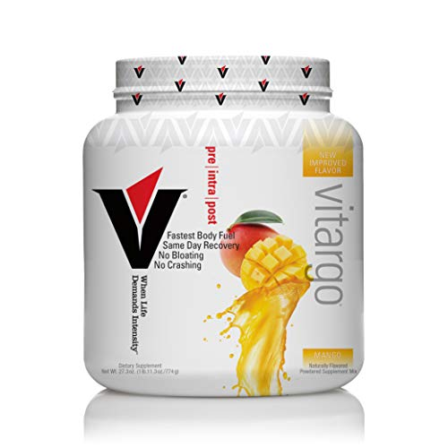 Vitargo - Premier Carbohydrate Fuel for Athletic Performance, Before - During - After Workout, Vegan and Gluten Free (Mango)