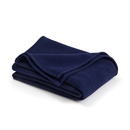 The Original Vellux Blanket - Twin, Soft, Warm, Insulated, Pet-Friendly, Home Bed & Sofa - Navy