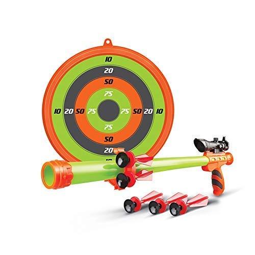 Toy Bow and Arrow Kids Toy Blowgun Blowdart | Toy Gun Includes Target, Sniper Telescope and Blow Darts | Safe & Fun Dart Gun Toy for Indoor or Outdoor Play (Blowdart)