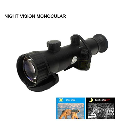 New Deeptech Night Vision Monocular,Low-Light Infrared Night Vision Digital Night Vision Goggles Hunting Camping Black