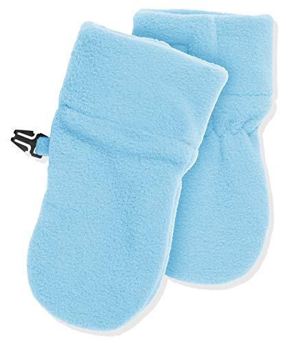 Playshoes Unisex - Baby Fäustling Kuschelweiche Fleece-Handschuhe, Baby Fäustel, Fäustlinge, Blau (Bleu 17 )