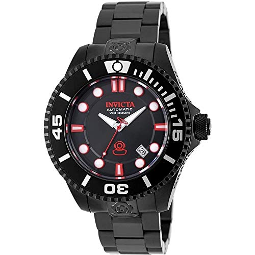 Invicta Men's Pro Diver 47mm Black Steel Bracelet & Case Sapphire Crystal Automatic Grey Dial Watch 19809...