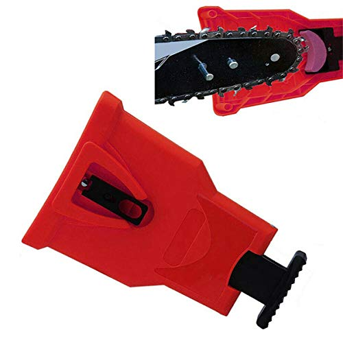 Yellow/Green/Red Chainsaw Teeth Sharpener or Sharpen Rock Bar-Mount Chain Sharpening Tool s (Color : Red)