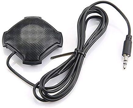 Goldyqin Microfono omnidirezionale Pickup con Microfono da 3,5 mm con Jack Audio a condensatore per Skype VOIP Call Voice Chat - Nero - Trova i prezzi più bassi