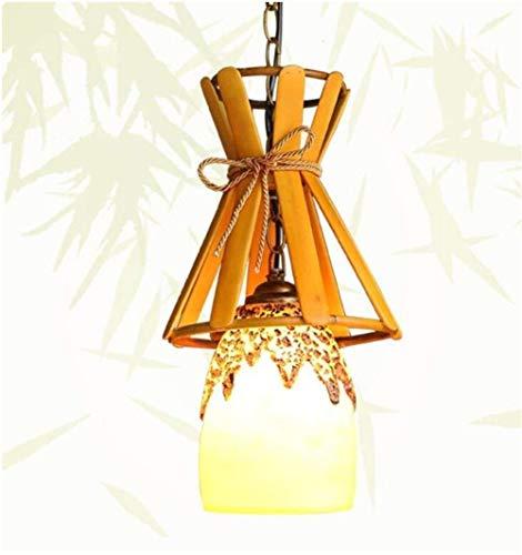 GLYYR Lámpara Techo Colgantes Candelabro de balcón Personalizado Creativo Pasillo Bar café candelabro de Resina idílico Restaurante luz