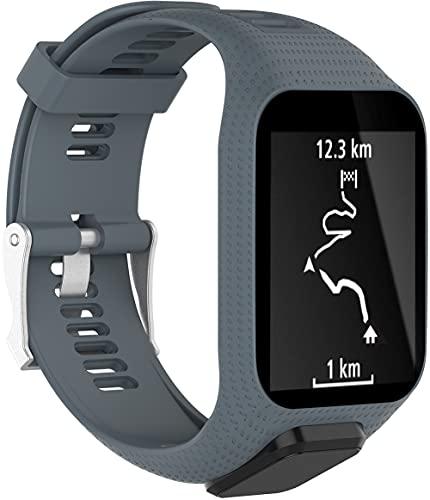 Chainfo Correa de Reloj Compatible con Tomtom Spark/Spark 3 / Runner 2 / Runner 3 / Golfer 2 / Adventurer, Silicona Banda de Reemplazo Pulsera (Pattern 7)