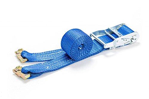 LOADCARE 2 TLG. Spanngurt mit Doppelfitting 1000daN 3 m für Airlineschiene Zurrschiene