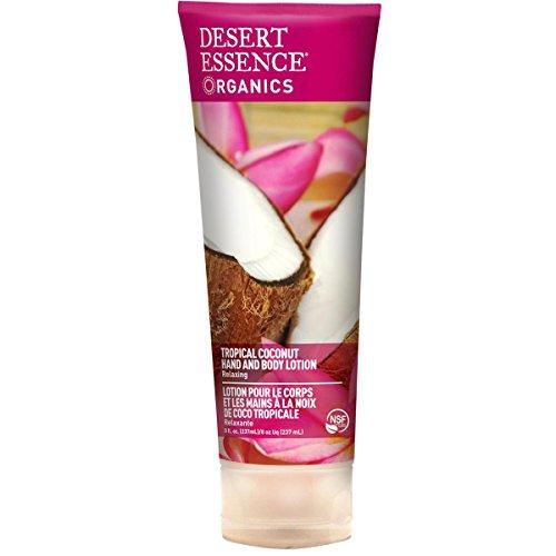 Desert Essence, Organics, Hand and Body Lotion, Tropical Coconut, 8 fl oz (237 ml)
