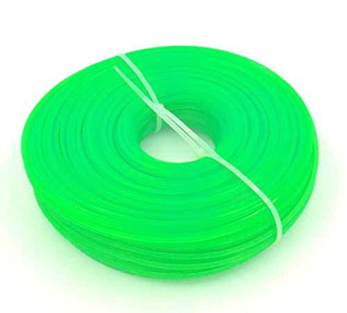 Bobina de hilo cortador hexagonal para desbrozadora, 100m, 3,0mm