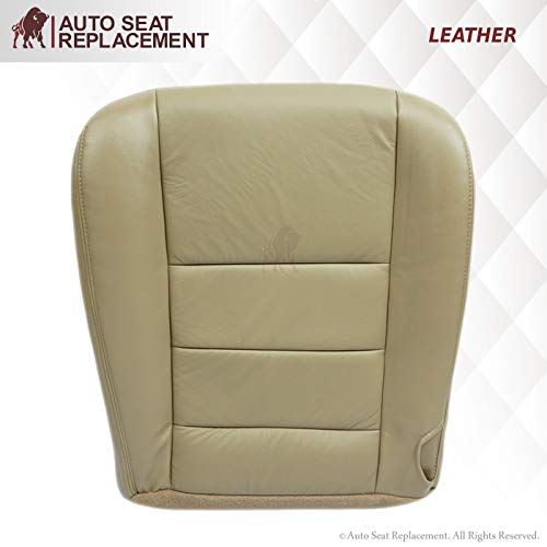 2003 2004 2005 2006 2007 Ford F250 F350 Lariat XLT Leather Seat Cover Replacement, Leather Seat Cover Ford F250 F350 (Driver Bottom, Medium Parchment (Tan))