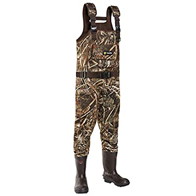 TIDEWE Chest Waders, Hunting Waders for Men Realtree MAX5 Camo with 600G Insulation, Waterproof Cleated Neoprene Bootfoot Wader, Insulated Hunting & Fishing Waders