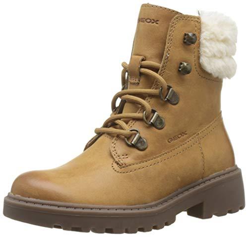 Geox Dziewczęce buty J Casey Girl H Combat Boots, beżowy - beżowy Biscuit C5046-31 EU
