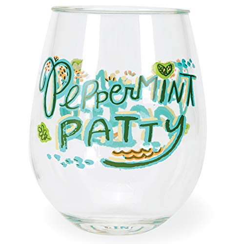 C.R. Gibson ''Peppermint Patty'' Acrylic Stemless Wine Glass, 12 oz