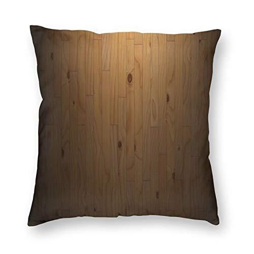 FULIYA Juego de 1 funda de cojín decorativa de lino y algodón suave de 45 x 45 cm, fundas de almohada para sofá, salón, parquet, tablas, madera, textura, rayas