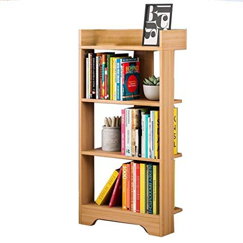 Manyao Solid Wood Bookshelf Floor Books Sundries Household Lockers Creative Storage Rack Three-tier Bookcase 100x40x22cm Book stand