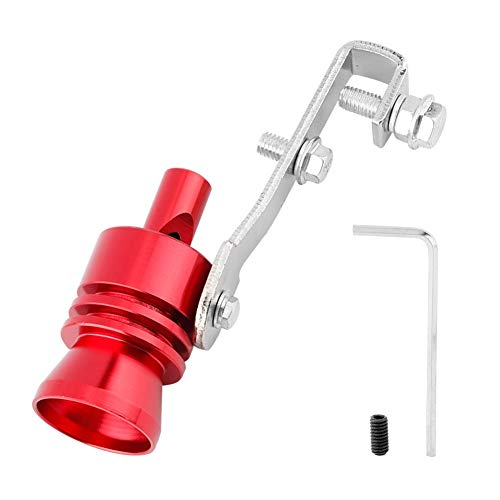 Auspuffrohr, Universal Auto Auspuffrohr Turbo Pfeife für Auto ATV SUV Auto Zubehör(rot)