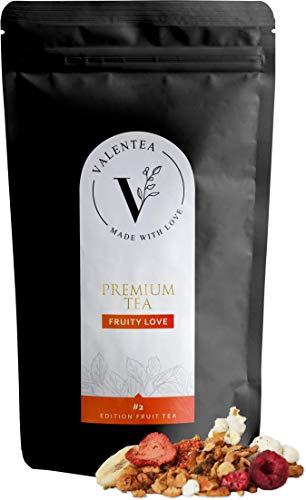 VALENTEA Früchtetee lose - Premium Teemischung Fruity Secret Love - heiß & kalt | 100g … (FRUITY LOVE, 100g)