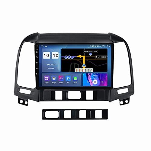 ADMLZQQ Android 10 Stereo Auto Radio per Hyundai Santa Fe 2006-2012 Lettore MP5 Multimedia GPS Supporto WiFi FM Controllo del Volante Bluetooth Telecamera Posteriore,M200s