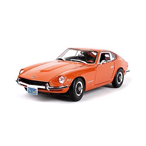 QIAO-QCMX 01.18 Miniatur-Modell, 1971-240Z Statische Miniatur-Druckguss Auto, Simulation Automodell, Autodekoration Modell Dekoration, Dekoration Sammlung, Geschenk (Color : Orange)