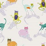 Art Gallery Fabrics - Baumwollstoff Meterware mit Katzen in