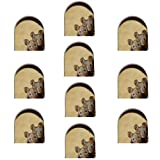 flouris 10pcs miniatura agujero del ratón calcomanía mural personalidad creativo interés pared etiqueta engomada interior y exterior decoración extraíble 3D
