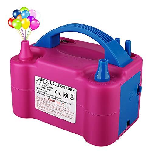Ironhorse Bomba de globo eléctrica AC 230v 600w portátil doble boquilla inflador/soplador...